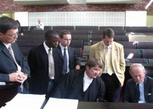 Legal Department – Shadrack Mafutsa, Martus de Wet, Adv Kemp SC, Dr Van Eeden and John Smyth QC,