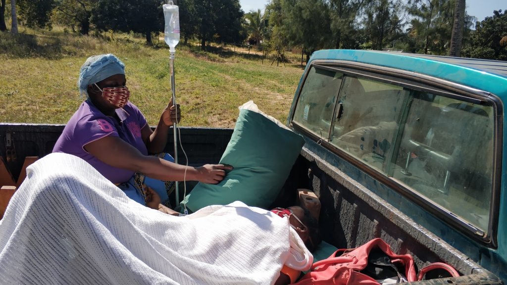 Urgent transfer of a critically ill patient